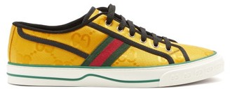 Gucci Tennis 1977 Gg-jacquard Canvas Trainers - Gold
