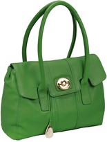 Leather Betty Lock Front Tote