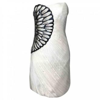 Jay Ahr White Silk Dress for Women