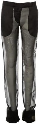 Max Mara Black Silk Trousers