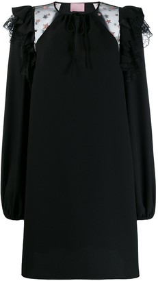 Giamba Ruffle Trim Shift Dress