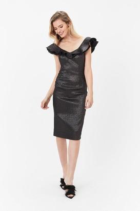 Coast Sparkle Kora Ruffle Dress