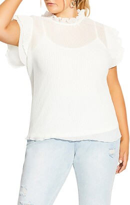 City Chic Top Off Beat Blouse