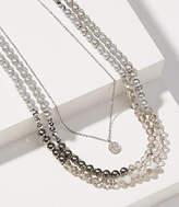 LOFT Pearlized Pendant Layering Necklace Set