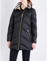 Burberry Ladies Black Exposed Zip Eastwick Quilted Shell Puffer Coat