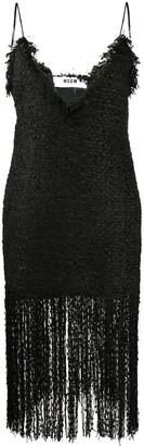 MSGM Fringed Tweed Dress