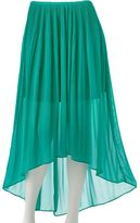 Lauren Conrad hi-low chiffon skirt