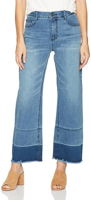 EVIDNT Women's Two Tone Wide Jean
