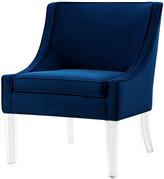 Nicole Miller Jaturat Velvet Accent Chair