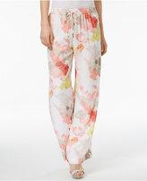 Calvin Klein Floral-Print Soft Pants
