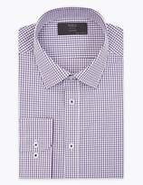 M&S CollectionMarks and Spencer Tailored Fit Checked Easy Iron Shirt