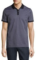 HUGO BOSS Micro-Pattern Polo Shirt, Navy