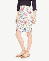 Ann Taylor Jungle Floral Pencil Skirt