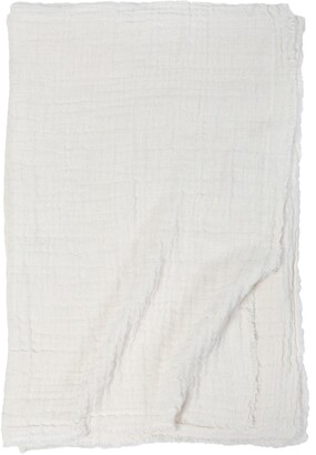 Pom Pom at Home Hermosa Oversized Cotton & Linen Throw Blanket