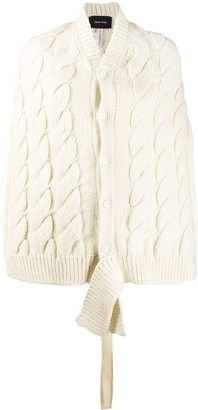 Simone Rocha Cable Knit Cardigan Shawl