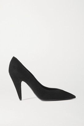 Saint Laurent Pierrot Suede Pumps - Black