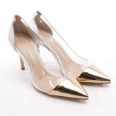 Gianvito Rossi Plexi White Leather Heels