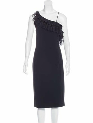 Adam Lippes Lace-Accented Midi Dress w/ Tags Black
