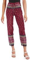 Anna Sui Silk-Blend Drawstring Pants