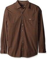Van Heusen Men's Big and Tall Long Sleeve Heathered Plaid Shirt