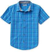 Calvin Klein Big Boys 8-20 Evolution Plaid Short-Sleeve Woven Shirt