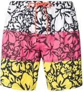 Paul & Shark colour block swim shorts