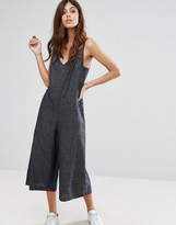 Warehouse Linen Mix Strappy Jumpsuit