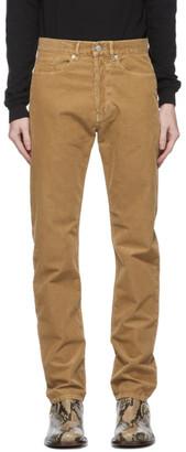 Dries Van Noten Tan Corduroy Slim Trousers