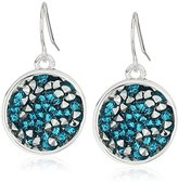 Kenneth Cole New York Aqua Sprinkle Stone Round Drop Earrings