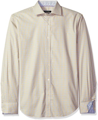 Bugatchi Men's Duke Long Sleeve Tattersall Check Button Down Shirt