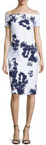 La Petite Robe di Chiara Boni Off-the-Shoulder Blossom Cocktail Dress, Navy/White