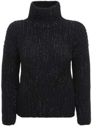 Ermanno Scervino Crystal Embellished Knit Wool Turtleneck