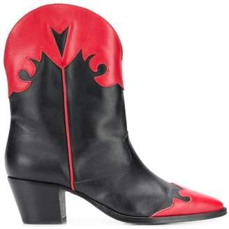 Paris Texas two-tone boots