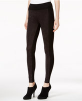 Kensie Faux-Suede Colorblocked Leggings, A Macy's Exclusive Style