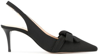 Paule Ka Bow Sling-Back Pumps