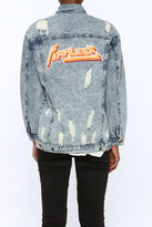 Honey Punch Distressed Denim Jacket
