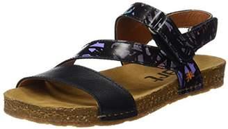 Art Women's 0469 Fantasy Creta Sandals with Flat Platform, Black (Black Chaos), 5 UK