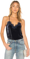 CAMI NYC The Racer Velvet Cami in Navy. - size L (also in M,S,XS)