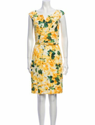 Oscar de la Renta 2014 Knee-Length Dress w/ Tags Yellow