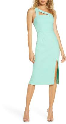 Finders Keepers Daniella One-Shoulder Crepe Sheath Dress
