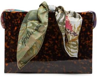 Montunas Guaria Tortoiseshell Acetate Box Bag - Womens - Multi
