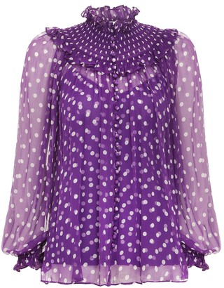 Zimmermann Ladybeetle Shirred Yoke Blouse