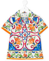Dolce & Gabbana Maiolica print shirt