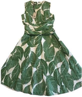 Hobbs Green Linen Dress for Women
