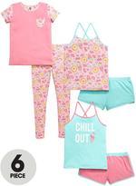 Very Girls Ice Cream Chill Out Pyjamas Set (6 Piece)