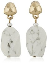 "Kenneth Cole New York Palm Desert"" Semiprecious Stone Drop Earrings"