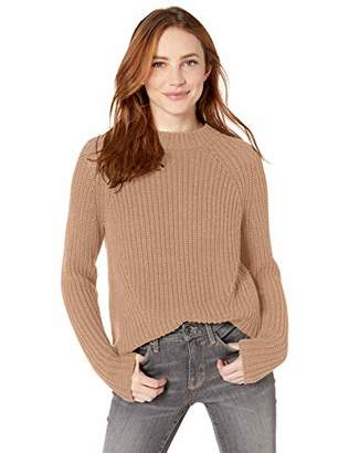 Goodthreads Cotton Half-Cardigan Stitch Mock Neck Sweater Pullover,XL