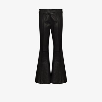 KHAITE Charles Flared Leather Trousers