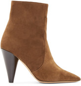 Isabel Marant Brown Suede Heeled Naelle Ankle Boots