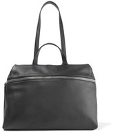 Kara Satchel Textured-leather Shoulder Bag - Black